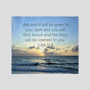 LUKE 11:9 Throw Blanket