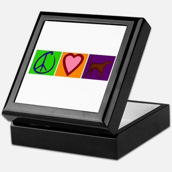 Peace Love Chocolate Labs - Keepsake Box