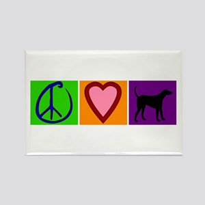 Peace Love Black Labs - Rectangle Magnet