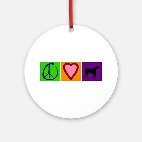Peace Love Black Labs - Ornament (Round)