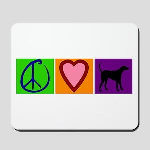 Peace Love Black Labs - Mousepad