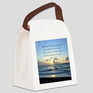 LUKE 11:9 Canvas Lunch Bag