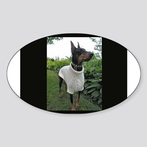 Doberman Oval Sticker