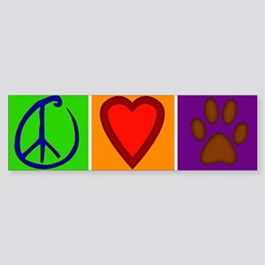Peace Love Dogs - Bumper Sticker