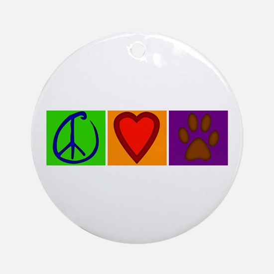 Peace Love Dogs - Ornament (Round)