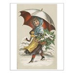 Umbrella Girl Small Poster