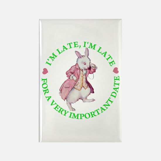 I'M LATE, I'M LATE Rectangle Magnet (100 pack)