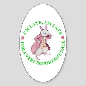 ALICE - FOLLOW ME Oval Sticker