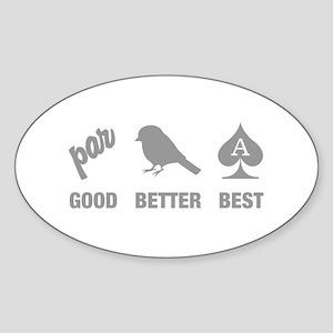 Basic Golf Logic Oval Sticker