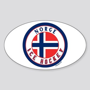 NO Norway/Norge Ice Hockey Oval Sticker