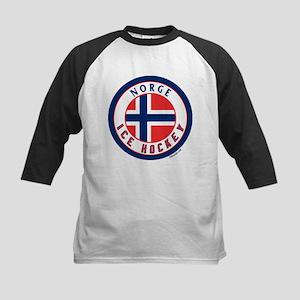 NO Norway/Norge Ice Hockey Kids Baseball Jersey