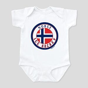 NO Norway/Norge Ice Hockey Infant Bodysuit