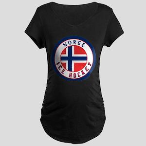 NO Norway/Norge Ice Hockey Maternity Dark T-Shirt