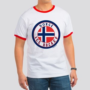 NO Norway/Norge Ice Hockey Ringer T