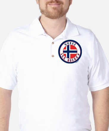 NO Norway/Norge Ice Hockey Golf Shirt