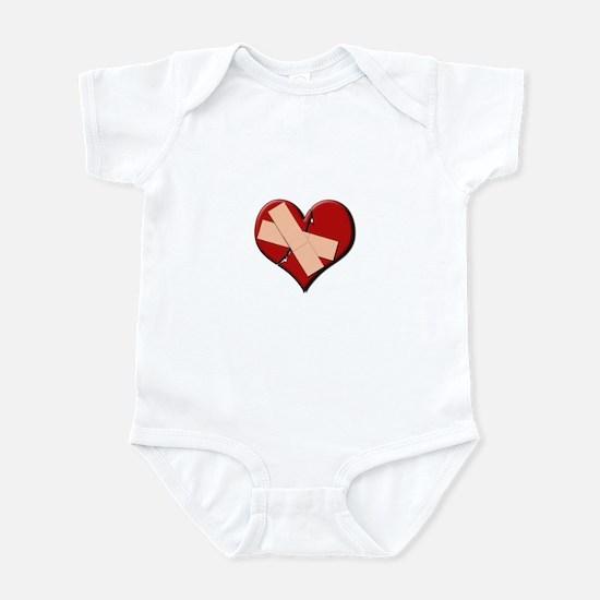 Band Aid Heart Infant Bodysuit
