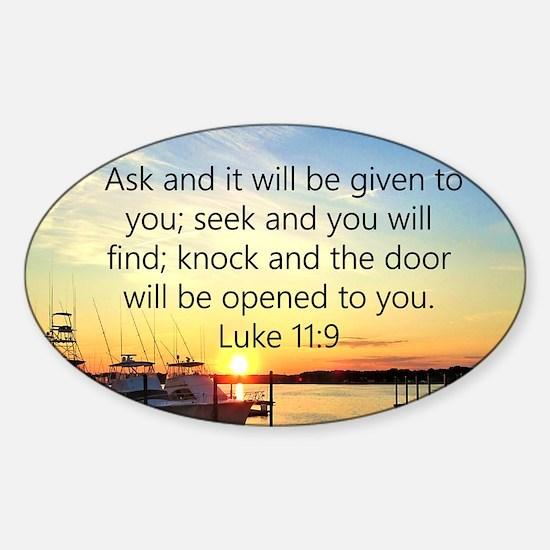 LUKE 11:9 Sticker (Oval)