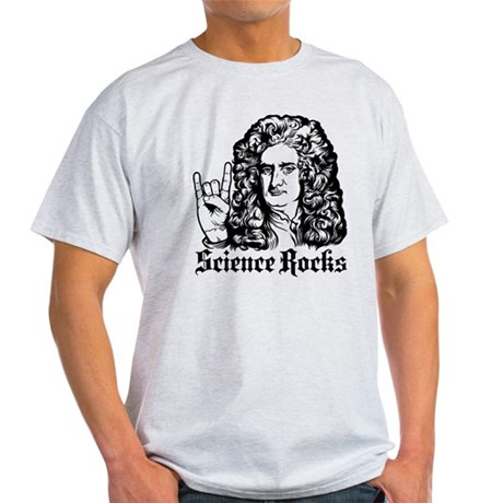 Isaac Newton Science Rocks Light T-Shirt