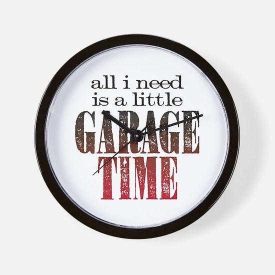 Garage Time Wall Clock