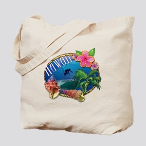 Surf Hawaii Tote Bag