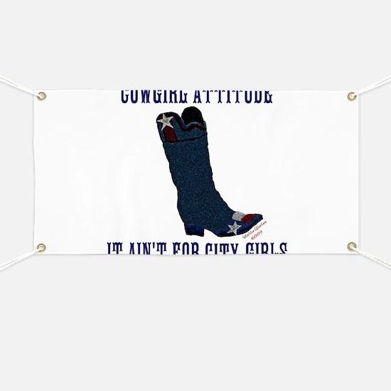Cowgirl Attitude Banner