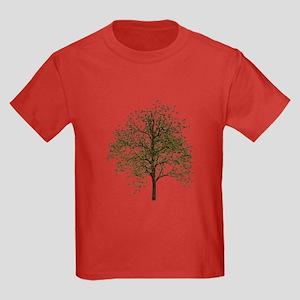 Simple Tree - Kids Dark T-Shirt