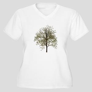 Simple Tree - Women's Plus Size V-Neck T-Shirt