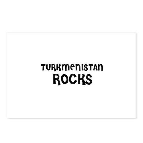 TURKMENISTAN ROCKS Postcards (Package of 8)