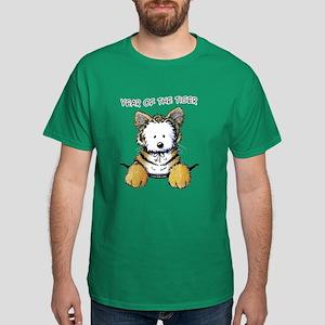 Westie YEAR OF THE TIGER Dark T-Shirt