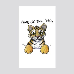 YEAR OF THE TIGER Rectangle Sticker 10 pk)