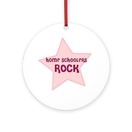 Home Schoolers Rock Ornament (Round)