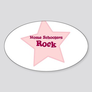 Home Schoolers Rock Oval Sticker