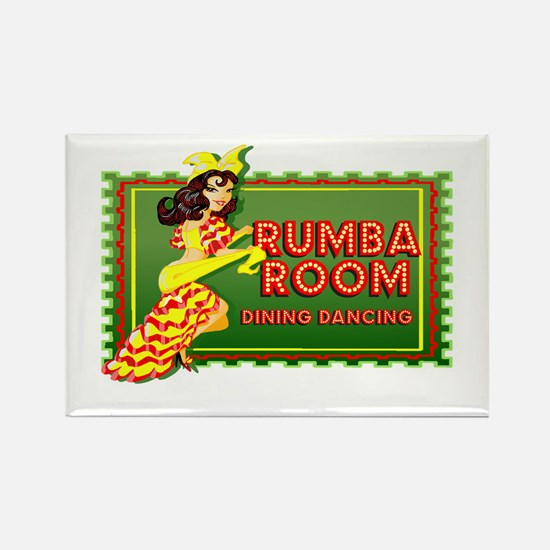 Rumba Room Rectangle Magnet