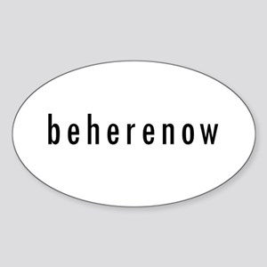 BeHereNow Oval Sticker