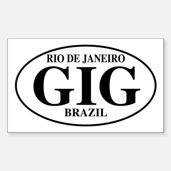 GIG Rio de Janeiro Rectangle Decal