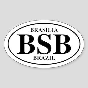 BSB Brasilia Oval Sticker