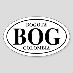 BOG Bogota Oval Sticker