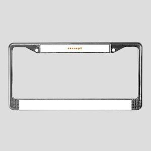 Corrupt License Plate Frame