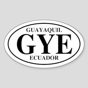 GYE Guayaquil Oval Sticker