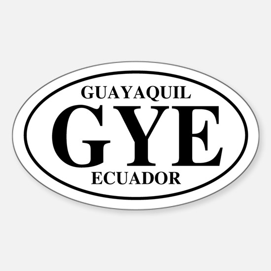 GYE Guayaquil Oval Decal