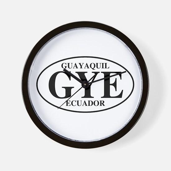 GYE Guayaquil Wall Clock