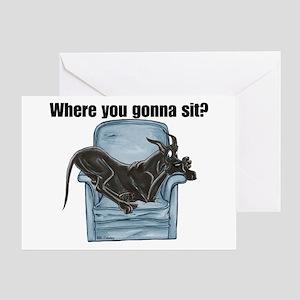 CBlk chair Where RU Greeting Card