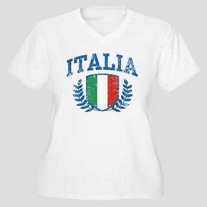 Italia Women's Plus Size V-Neck T-Shirt