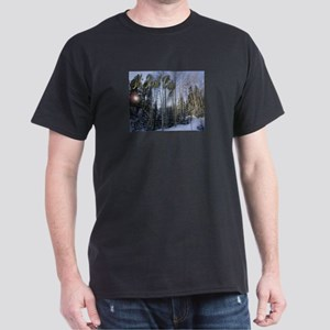 Ski Park City - Scenic Black T-Shirt