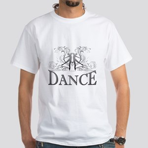 DANCE (gray) White T-Shirt