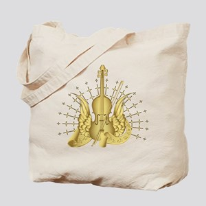 Golden Winged Violin Tote Bag