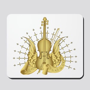 Golden Winged Violin Mousepad