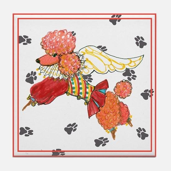 Gulliver's Angel Apricot PoodleTile Coaster