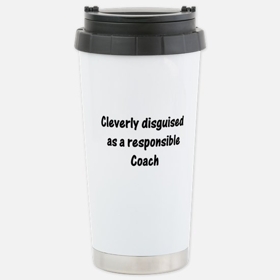 Unique Tennis coach Travel Mug