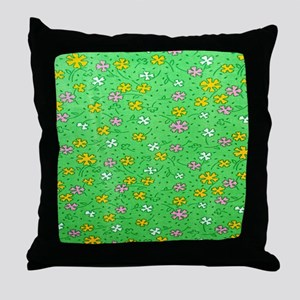 Green flowers Pillow